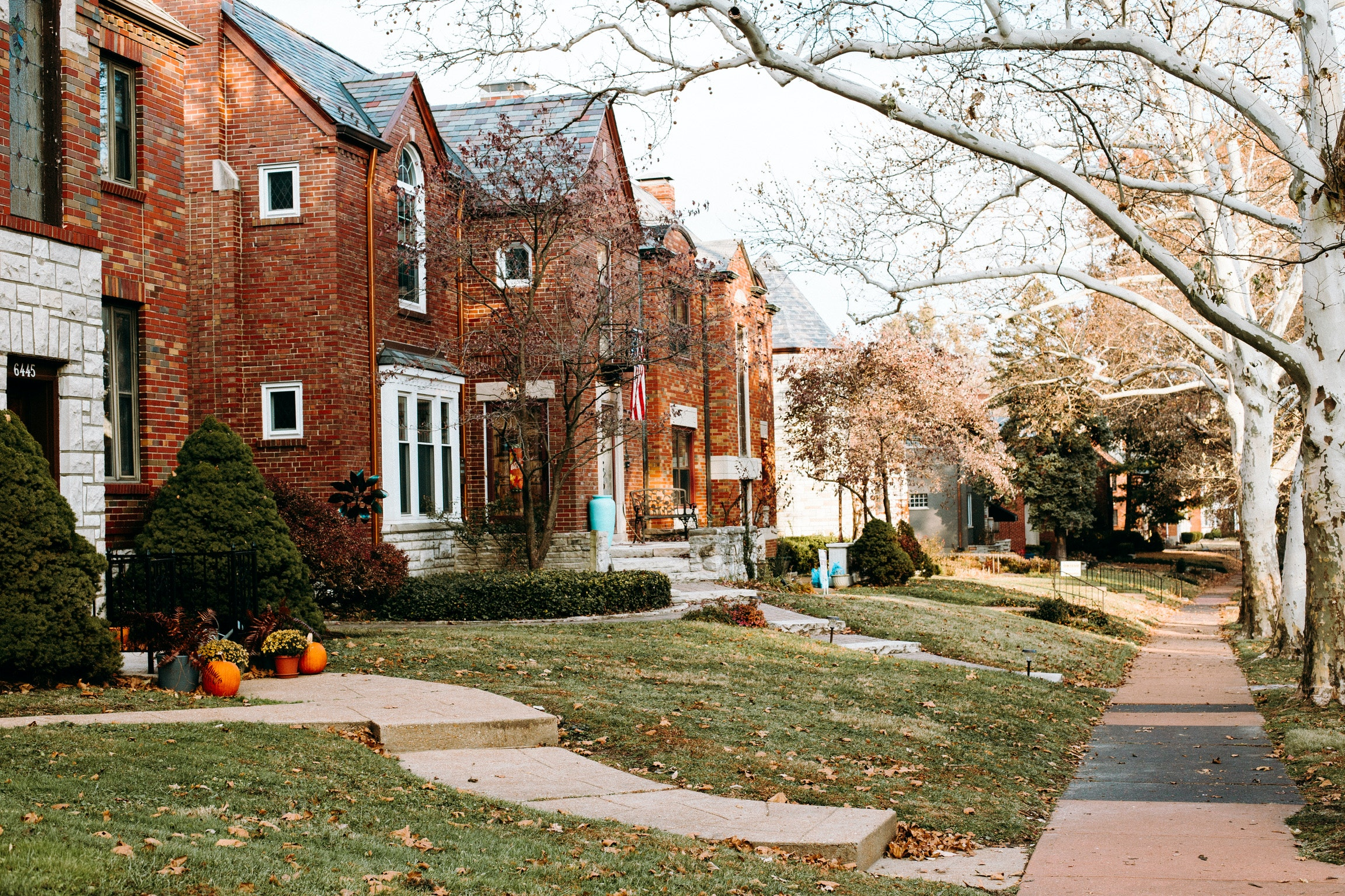 Street Left Houses